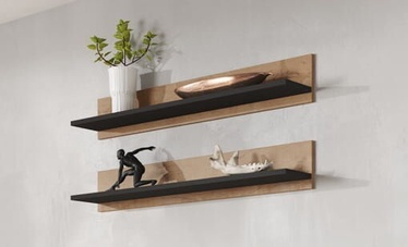 Cama Meble Soho 125 Shelves Black Oak Lefkas