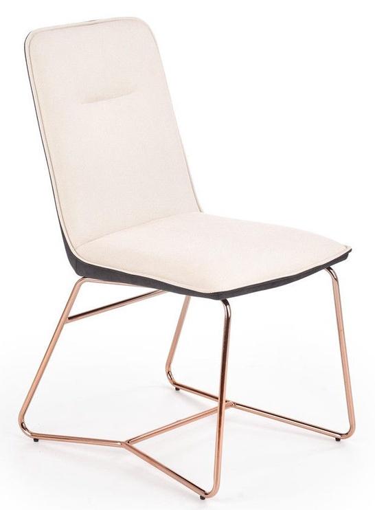 Halmar Chair K390 Cream/Dark Grey/Gold
