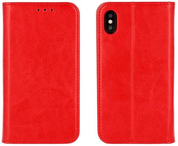 Mocco Special Leather Book Case For Samsung Galaxy J4 J400 Red