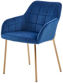 Halmar K306 Chair Dark Blue/Gold