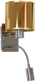 Candellux SYLWANA Wall Lamp 40W E14 With LED Switch Chrome Gold