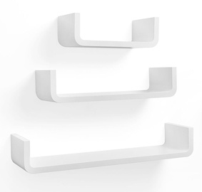 Songmics Angular Wall Shelf White 3pcs