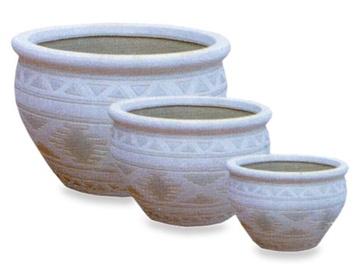 SN S/3 Flower Pot 30cm White