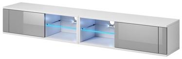 ТВ стол Vivaldi Meble Best Double, белый/серый, 2000x358x305 мм