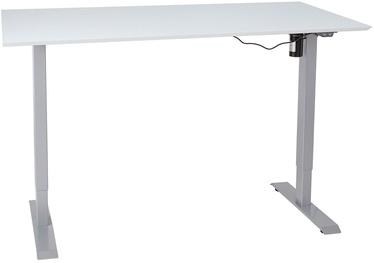 Письменный стол Home4you Ergo-1 10663, белый/серый