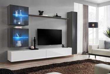 Dzīvojamās istabas mēbeļu komplekts ASM Switch XVIII Graphite/White