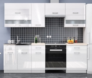 WIPMEB Rio Kitchen Set 240cm White Gloss