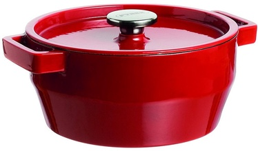 Pyrex SlowCook Round Cast Iron Casserole 24cm 3.6L Red