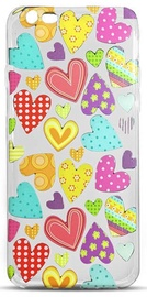 Mocco Trendy Color Hearts Back Case For Apple iPhone 6/6S