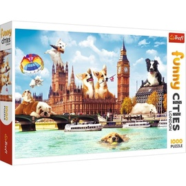 Puzle Trefl Funny Cities Dogs In London 722204, 1000 gab.