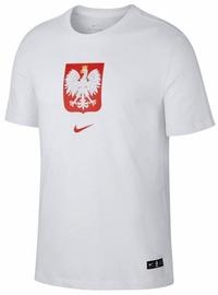 Футболка Nike Poland Tee Evergreen Crest CU9191 100, белый, XL