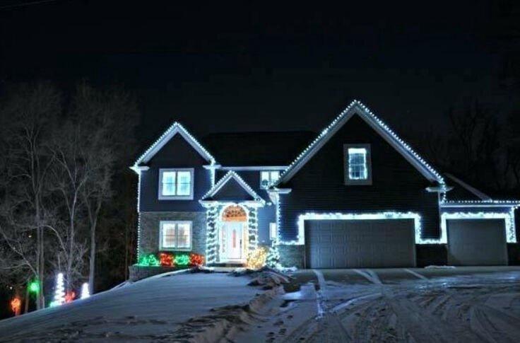 Elektriskā virtene Niveda Outdoor LED 400 White/White Flash, 40 m