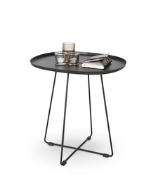 Kafijas galdiņš Halmar Tina Black, 500x420x510 mm