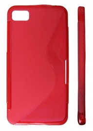 KLT Back Case S-Line Sony Xperia J Silicone/Plastic Red