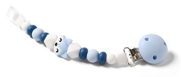 Knupīša turētājs BabyOno Dummy Ribbon White/Blue