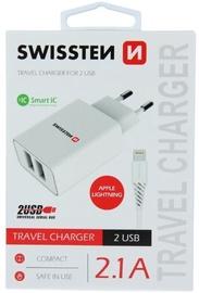 Swissten Smart IC Travel Charger Lightning White