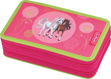 Herlitz Double Pencil Case 23Pcs Spring Horses