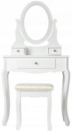 Столик-косметичка GoodHome White, с зеркалом
