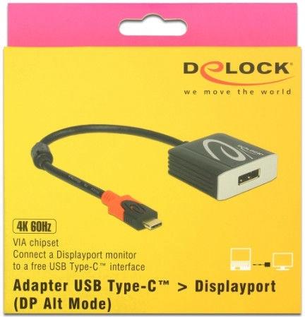 Delock Adapter USB Type-C To DisplayPort