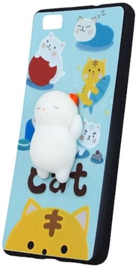 Mocco 4D White Cat Back Case For Samsung Galaxy S7