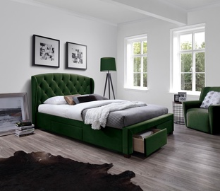 Кровать Halmar Sabrina Dark Green, 160 x 200 cm