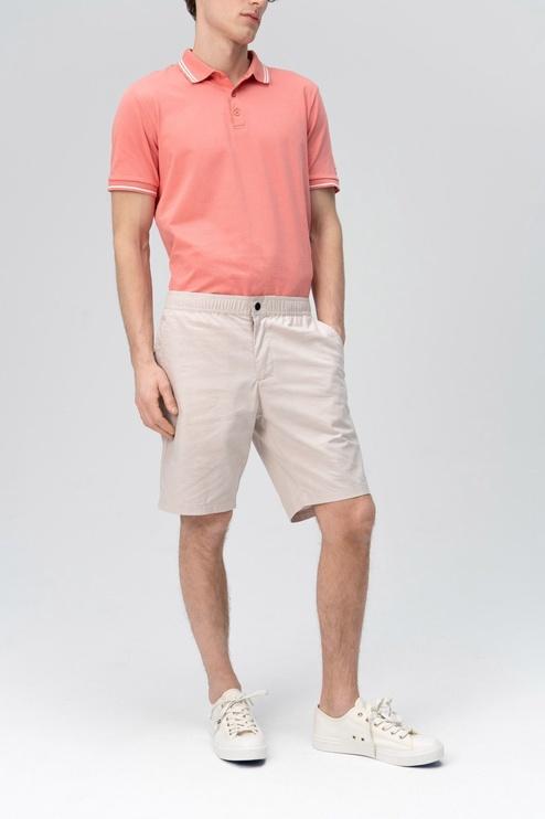 Audimas Cotton Lightwight Fabric Shorts Silver Cloud 58