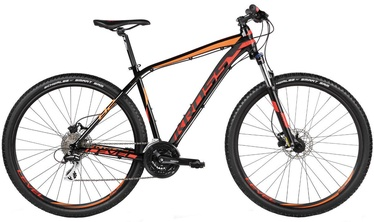 "Velosipēds Kross Level B2 S 29"" Black Red Orange Glossy 17"