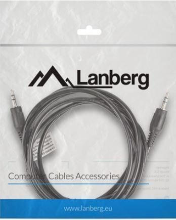 Lanberg Cable 3.5mm / 3.5mm Black 2m