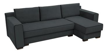 Угловой диван Idzczak Meble Colin Dark Grey, 254 x 140 x 71 см