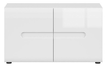 Шкаф для обуви Black Red White Azteca Trio White, 900x370x520 мм