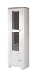 Idzczak Meble Newada 01 1D Glass Cabinet Northland/Sonoma Oak Trufla