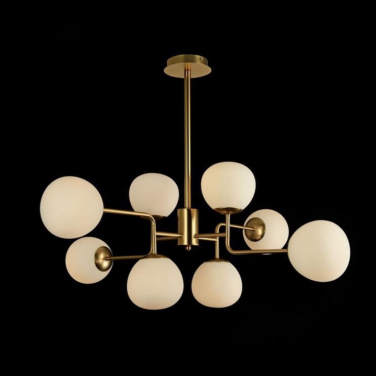 Gaismeklis Maytoni Erich Ceiling Lamp 8x40W E14 Brass