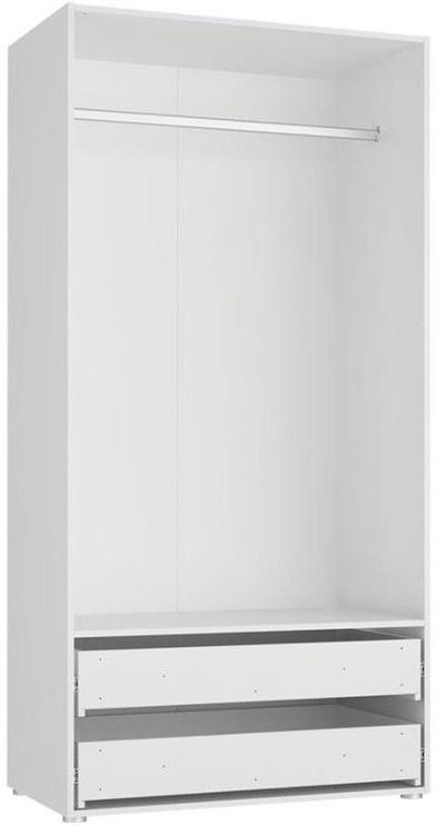 Skapis Tuckano Bella 05, balta, 100x55x201 cm