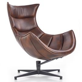 Atzveltnes krēsls Halmar Luxor Brown, 84x86x96 cm