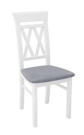 Ēdamistabas krēsls Black Red White Cannet Grey/White