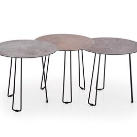 Kafijas galdiņš Halmar Triple Brown/Grey/Black, 500x350x450 mm