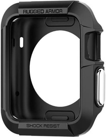 Spigen Rugged Armor Case For Apple Watch 1/2/3 38mm Black