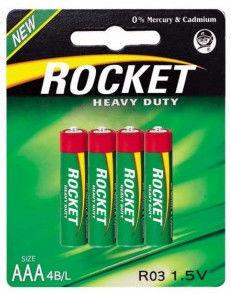 Rocket R03-4BB Heavy Duty AAA Batteries 4x