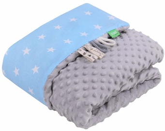 Одеяло Lulando Minky Baby Blanket Grey/Blue With Stars 80x100cm