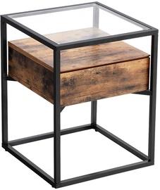 Kafijas galdiņš Songmics, brūna/melna, 430x430x540 mm