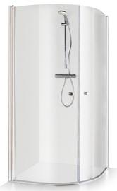Dušas kabīne Brasta Glass Katarina, pusapaļā, bez paliktņa, 1000x1000x1900 mm
