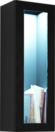 Cama Meble Vigo 90 Cabinet Glass Black/Black Gloss