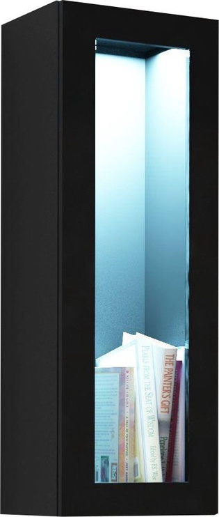 Cama Meble Vigo 90 Cabinet Glass Black/Black Gloss