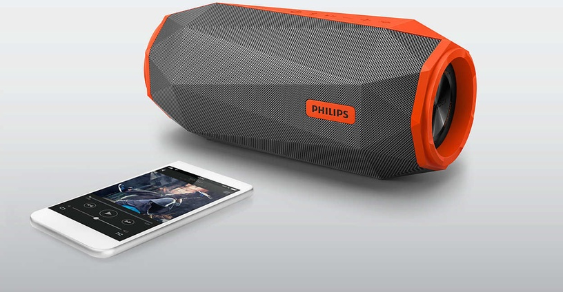 Bezvadu skaļrunis Philips SB500 Grey/Orange, 30 W