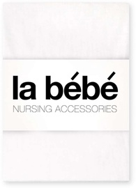 La Bebe Cotton Bed Sheet White 60x120cm 24439