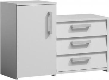 Шкаф для обуви Top E Shop Paris, белый, 990x360x680 мм