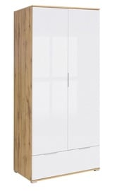 Гардероб Black Red White Zele Wotan Oak/White Gloss, 90.5x56.5x195 см