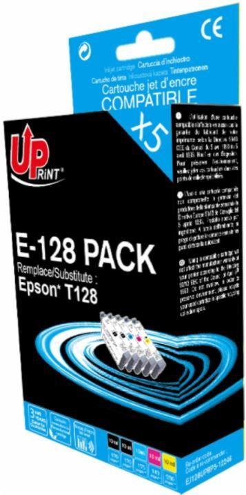 Uprint Cartridge For Epson 2x 10ml Black 10ml Yellow 10ml Magenta 10ml Cyan 10ml