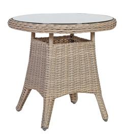 Dārza galds Home4you Pacific Beige, 60 x 60 x 55 cm
