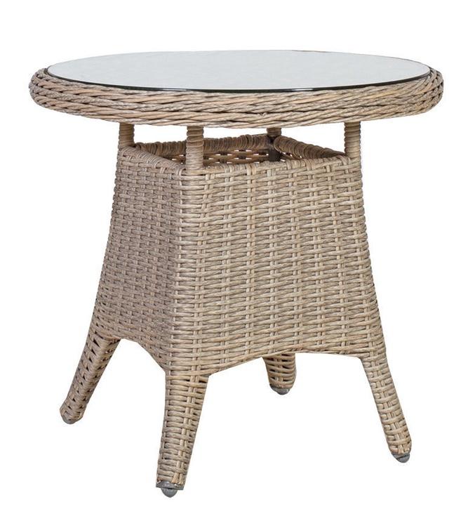 Dārza galds Home4you Pacific 10497, pelēka/bēša, 60 x 60 x 55 cm